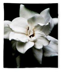 A Gardenia Night Fleece Blanket
