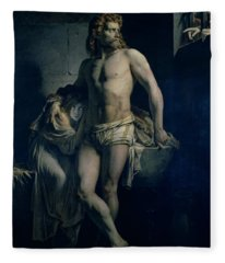 A Gaul And His Daughter Imprisoned In Rome Fleece Blanket
