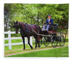 A Gentleman's Sunday Ride Fleece Blanket