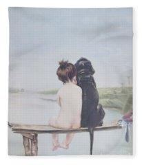 Bathing Beauties By Bruno Piglhein Fleece Blanket