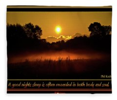 A Good Nights Sleep Fleece Blanket