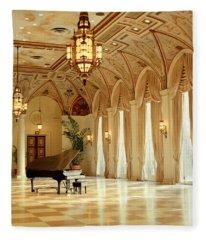 A Grand Piano Fleece Blanket