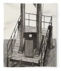 A Guillotine From The Time Fleece Blanket