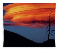 A Haunting Sunset Fleece Blanket