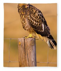A Hawk's Cry Fleece Blanket