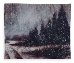 A Hazy Shade Of Winter  Fleece Blanket