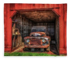 A Hiding Place 1949 Ford Pickup Truck Fleece Blanket
