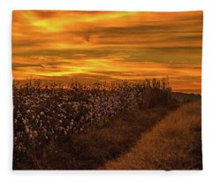 A Hill Of Cotton  Fleece Blanket