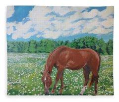 A Horse Named Dante Fleece Blanket