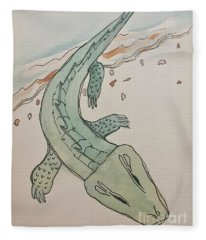 A Is For Alligator Fleece Blanket