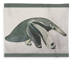 A Is For Anteater Fleece Blanket