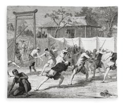 A Japanese Fencing School In The 19th Fleece Blanket