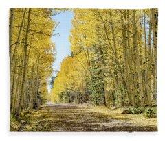 A Lane Of Gold Fleece Blanket
