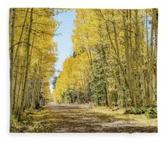 A Lane Of Gold Fleece Blanket