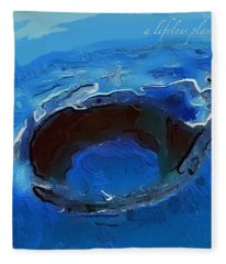 A Lifeless Planet Blue Fleece Blanket