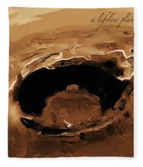 A Lifeless Planet Brown Fleece Blanket
