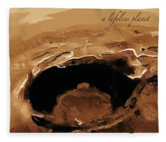 A Lifeless Planet Brown Fleece Blanket