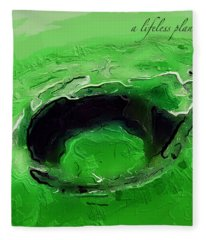 A Lifeless Planet Green Fleece Blanket