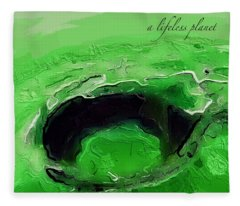 A Lifeless Planet Green Fleece Blanket