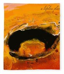 A Lifeless Planet Orange Fleece Blanket
