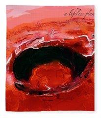 A Lifeless Planet Red Fleece Blanket