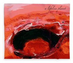 A Lifeless Planet Red Fleece Blanket