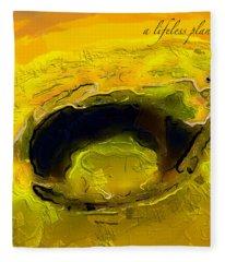 A Lifeless Planet Yellow Fleece Blanket