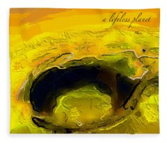 A Lifeless Planet Yellow Fleece Blanket