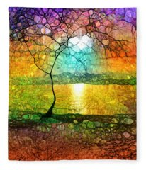 A Light Like Love Fleece Blanket