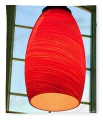 A Light On In Trhe Window Fleece Blanket