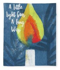 A Little Light- Art By Linda Woods Fleece Blanket