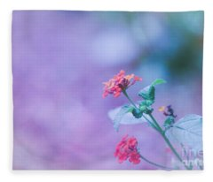 A Little Softness, A Little Color - Macro Flowers Fleece Blanket