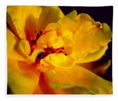 A Little Yellow Fleece Blanket