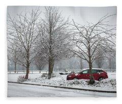 A Lonely Commute Fleece Blanket