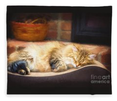 A Long Winter's Nap Fleece Blanket