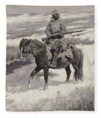 A Manchurian Bandit Fleece Blanket