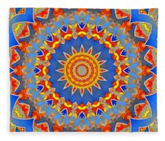 A Mandala Wonder Fleece Blanket