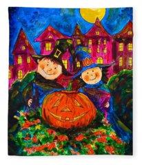 A Merry Halloween Fleece Blanket