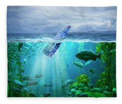 A Message In A Bottle Fleece Blanket