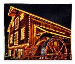 A Mill In Lights Fleece Blanket