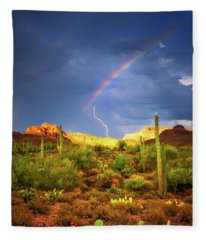 Fleece Blanket featuring the photograph A Miracle Of Timing by Rick Furmanek