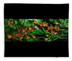 A Moment At The Monarch Grove Sanctuary Fleece Blanket