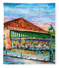 A Morning At Cafe Du Monde Fleece Blanket