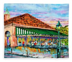 A Morning At Cafe Du Monde Fleece Blanket