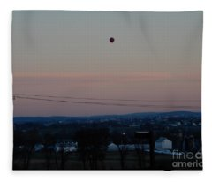 A Morning Hot Air Balloon Ride Fleece Blanket