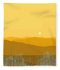 A Mountain Meadow Fleece Blanket