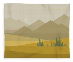 A Mountain View Fleece Blanket