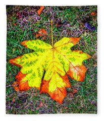 A New Leaf Fleece Blanket