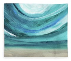 A New Start Wide- Art By Linda Woods Fleece Blanket
