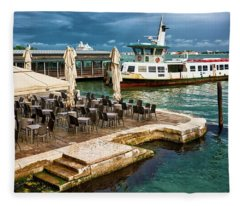 A Nice Place To Eat In Venice Fleece Blanket